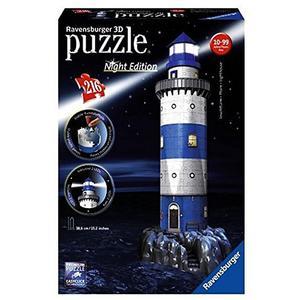 RAVENSBURGER 3D Puzzle - Leuchtturm bei Nacht