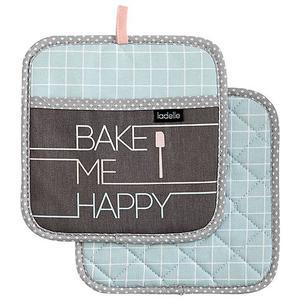 LADELLE Topflappen 21x21cm 2er Bake me happy