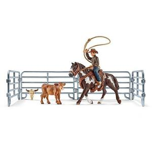 SCHLEICH Team Roping mit Cowboy Farm World 41418