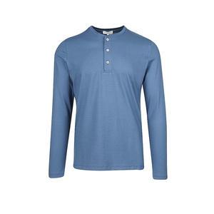 MEY Pyjama Langarmshirt Ravenna Blue