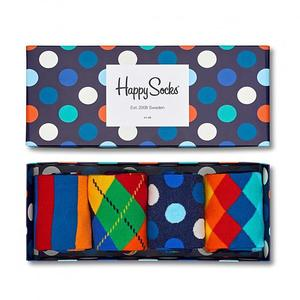 HAPPY SOCKS Damen-Socken Geschenkbox 4-er Big Dot 36-40