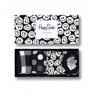 HAPPY SOCKS Herren-Socken Geschenkbox 4-er Pkg. Black and White 41-46