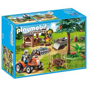 PLAYMOBIL Country - Holzfäller mit Traktor 6814
