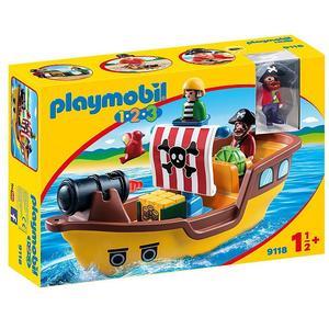 PLAYMOBIL 1,2,3 Piratenschiff 9118