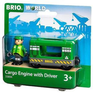 BRIO Frachtlok mit Fahrer 33894