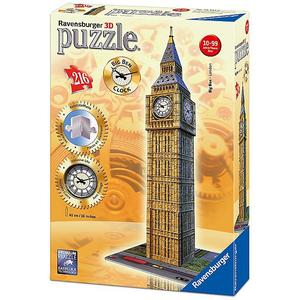 RAVENSBURGER 3D-Puzzle - Big Ben mit echter Uhr 216-teilig