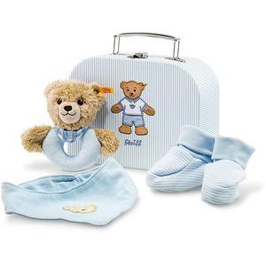 STEIFF Teddybär - Geschenkset Schlaf-gut-Bär Greifring mit Rassel 20cm blau