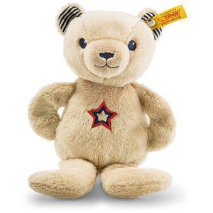 STEIFF Teddybär Band Niklie Knister-Teddybär mit Rassel 23cm beige