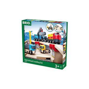 BRIO Straßen und Schienen Steinverlade-Set