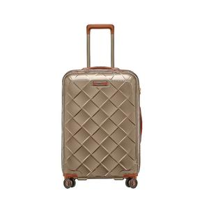 STRATIC Trolley Leather and More M 65cm champagne