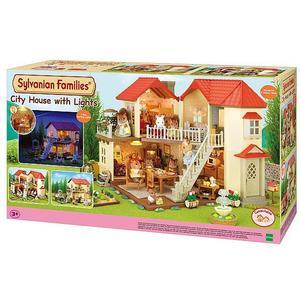 SYLVANIAN FAMILIES Stadthaus mit Licht Figuren und Möbel 3646