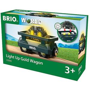 BRIO Goldwaggon mit Licht 33896