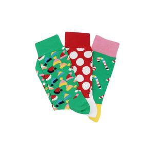 HAPPY SOCKS Damen-Socken Geschenkbox 3-er Holiday Tree 36-40