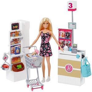 MATTEL Barbie - Supermarkt und Puppe