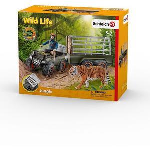 SCHLEICH Quad mit Anhänger und Ranger Wild Life 42351