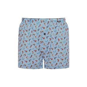 MEY Boxershort Fish and Stripes (French Blue)