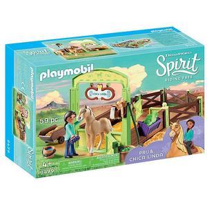 PLAYMOBIL Spirit - Pferdebox Pru und Chica 9479