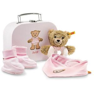 STEIFF Teddybär - Geschenkset Schlaf-gut-Bär Greifring mit Rassel 20cm rosa