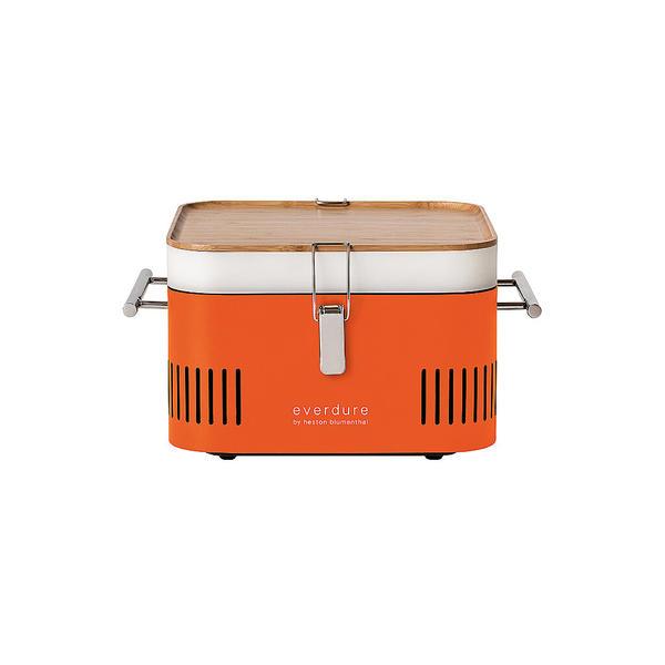 EVERDURE BY HESTON BLUMENTHAL Tragbarer Holzkohlegrill CUBE Orange