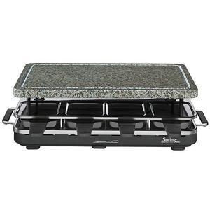 SPRING Spring - Raclette 8 mit Granitstein (Schwarz)