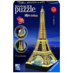 RAVENSBURGER 3D Puzzle - Eiffelturm Night Edition 216 Teile