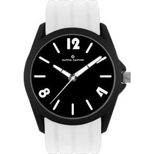 Unisex Armbanduhr Alpha Saphir 378 schwarz