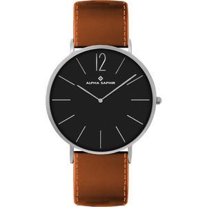 Unisex Armbanduhr Alpha Saphir 383 schwarz