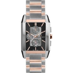 Herren Armbanduhr Paris P-861D schwarz/grau/rosé