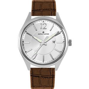 Herren Armbanduhr Alpha Saphir 376 silber