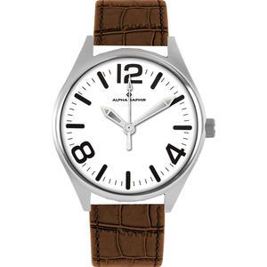 Herren Armbanduhr Alpha Saphir 377 weiß