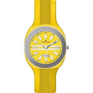 Herren Armbanduhr Alpha Saphir 373 gelb/silber