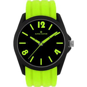 Unisex Armbanduhr Alpha Saphir 378 schwarz/grün