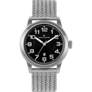 Herren Armbanduhr Alpha Saphir 340 schwarz