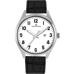 Herren Armbanduhr Alpha Saphir 376 weiß