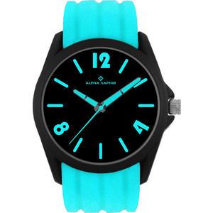 Unisex Armbanduhr Alpha Saphir 378 schwarz/blau