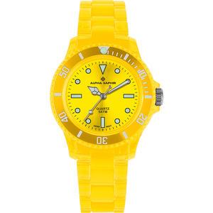Unisex Armbanduhr Alpha Saphir 369 gelb