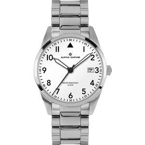 Herren Armbanduhr Alpha Saphir 385 weiß
