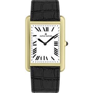 Damen Armbanduhr Alpha Saphir 343 weiß