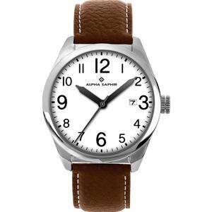 Herren Armbanduhr Alpha Saphir 339 weiß