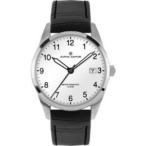 Herren Armbanduhr Alpha Saphir 379 weiß