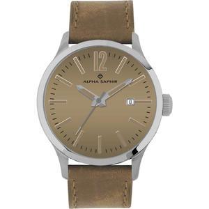 Herren Armbanduhr Alpha Saphir 381 h. Braun