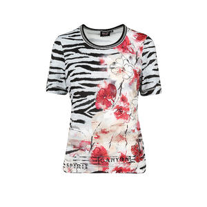 CANYON Damen T-Shirt Zebra/Blumen