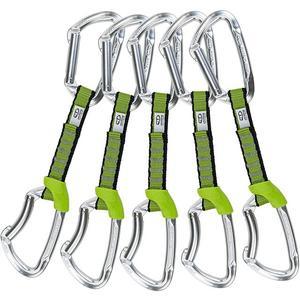 CLIMBING TECHNOLOGY Karabiner Express-Set Lime 5er Set NY
