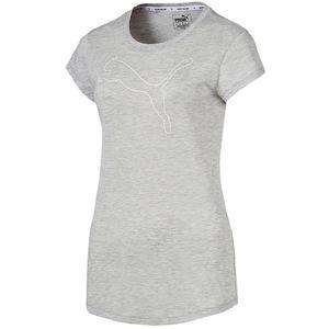 PUMA Damen Fitness-Shirt Active Logo Heather Tee