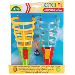 LENA® 61221 - Catch me Duo Pack, Fangballspiel, Korb-Ballspiel, 20cm