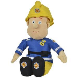 Simba 109252112 - Feuerwehrmann Sam, Plüschfigur mit Helm, 45cm