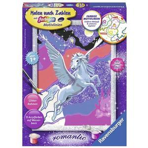 Ravensburger Stolzer Pegasus - Malen nach Zahlen, mit Glittereffekt, romantic, MNZ
