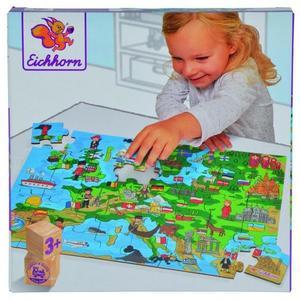 Eichhorn 100003627 - Formpuzzle, Europakarte