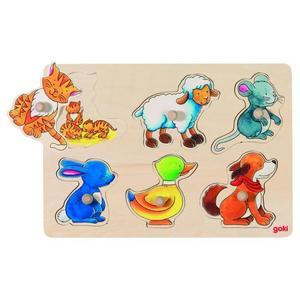 Goki 57929 - Hintergrundbildpuzzle, Mutter und Kind