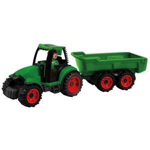 LENA® 01625 - Truckies Traktor mit Anhänger, mit Spielfigur, Sandspielzeug